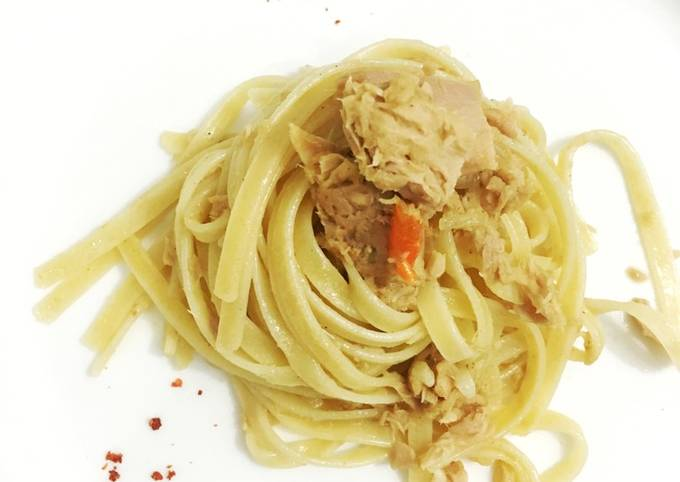 Resep Fettuccine Tuna Cabe Rawit Oleh Anak Kost Cookpad