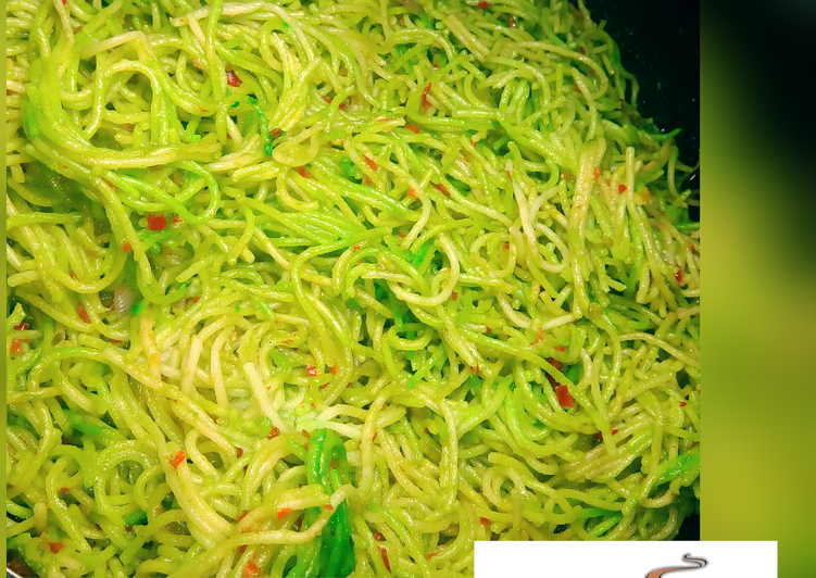 Recipe of Homemade Simple fried spaghetti