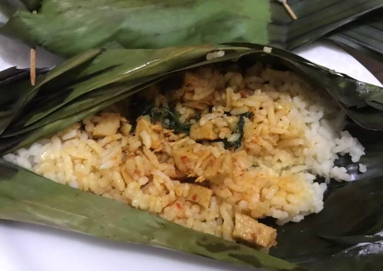 29. Nasi Bakar Ayam Suwir Bumbu Bali