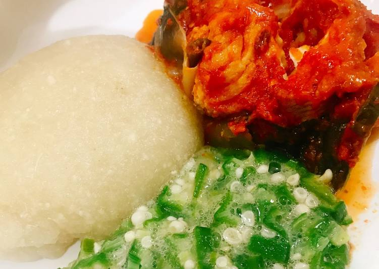 Step-by-Step Guide to Prepare Favorite Okra and catfish stew with eba