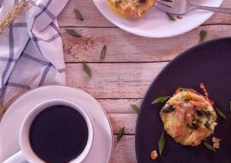 Resepi:  Muffin Telur Roti Gardenia  Dirumah