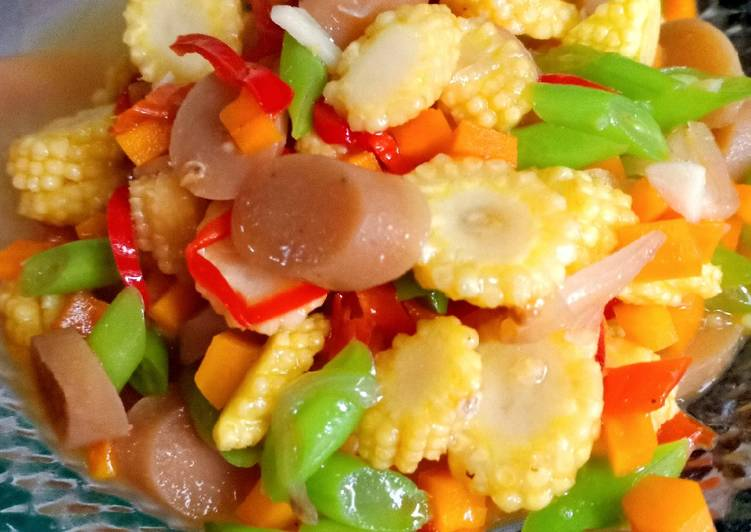 8 Cara Membuat Tumis Wortel Babycorn Bunciz Sosis Saus Tiram Yang Enak Cookandrecipe Com