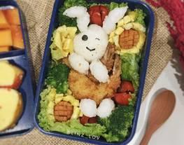 Bunny bento ide bekal sekolah anak - udang goreng tepung - ide bekal anak sekolah - kids bento