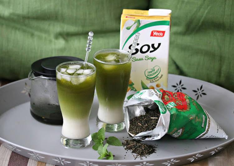 Minuman Soya Teh Hijau - resepipouler.com