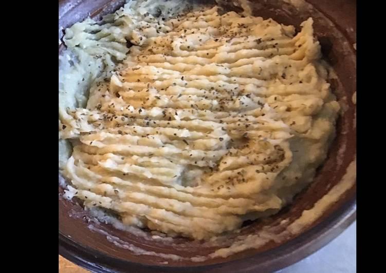 Purée de pommes de terre fenouil ail oignon et origan