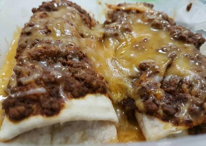 Chili cheese burrito
