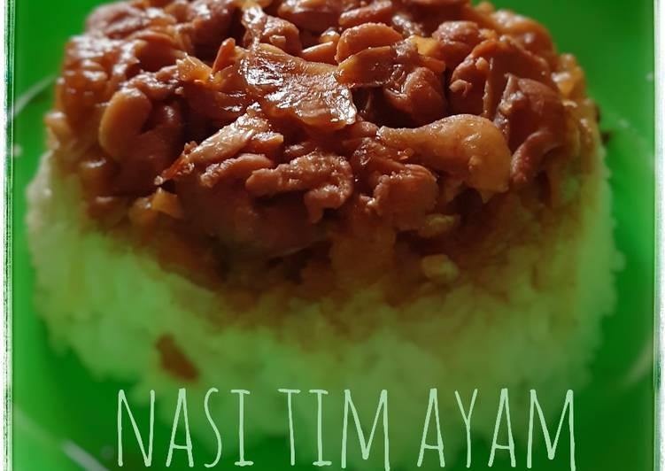 Resep Nasi Tim Ayam, Lezat Sekali