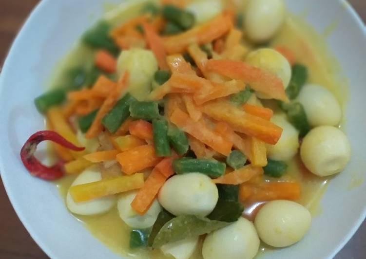 Telur Puyuh Acar Kuning - cookandrecipe.com