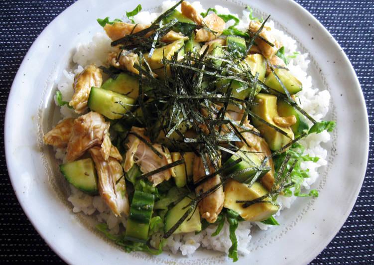 Wasabi Chicken & Avocado Chirashi-zushi