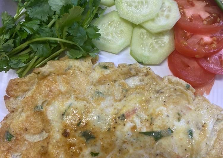 Steps to Prepare Homemade Breakfast cheese egg