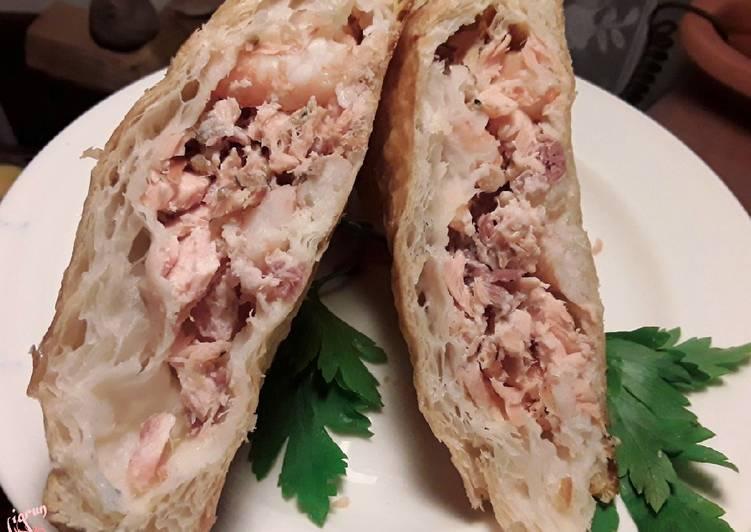 Recipe of Speedy Sig's Salmon and Prawn Pasties