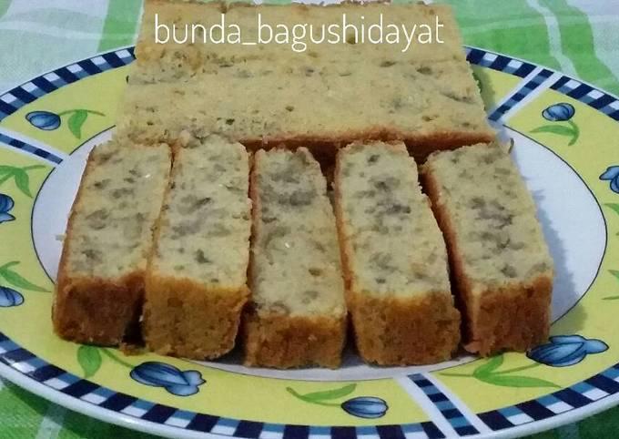 Resep Banana Sponge Cake 5 Bahan Tanpa Pengembang Oleh Bunda Bagus Cookpad
