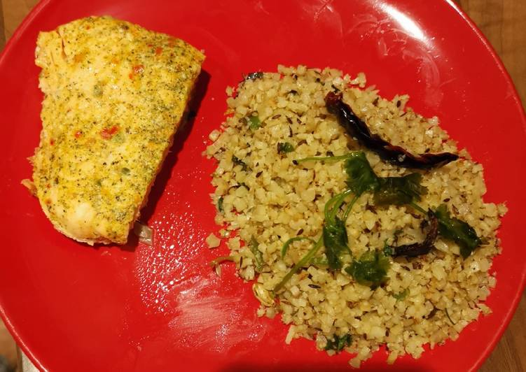 Jeera rice, well, with cauliflower rice