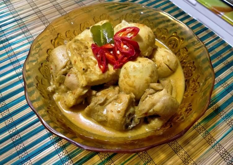 19.Kare Ayam Tahu Telor bumbu praktis
