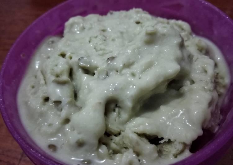Es Krim Kacang Hijau Tanpa SP