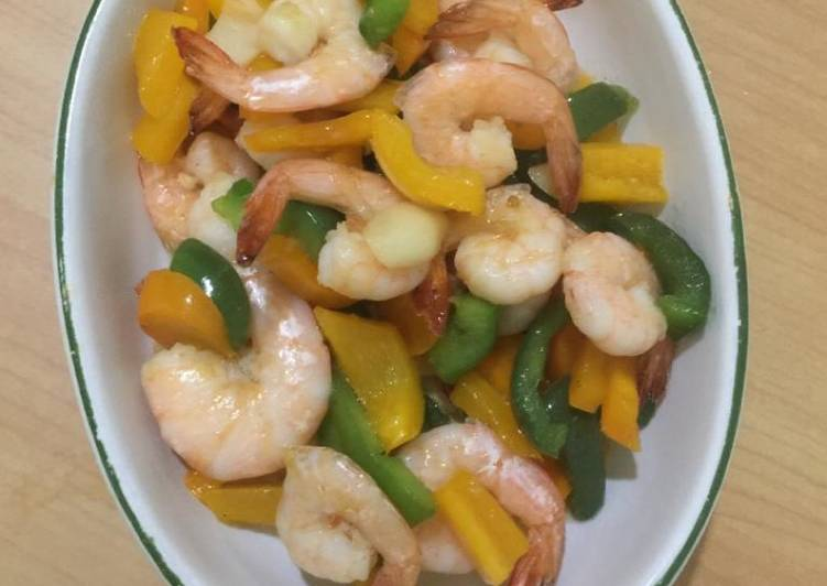 45. Udang paprika warna warni (simple cook)