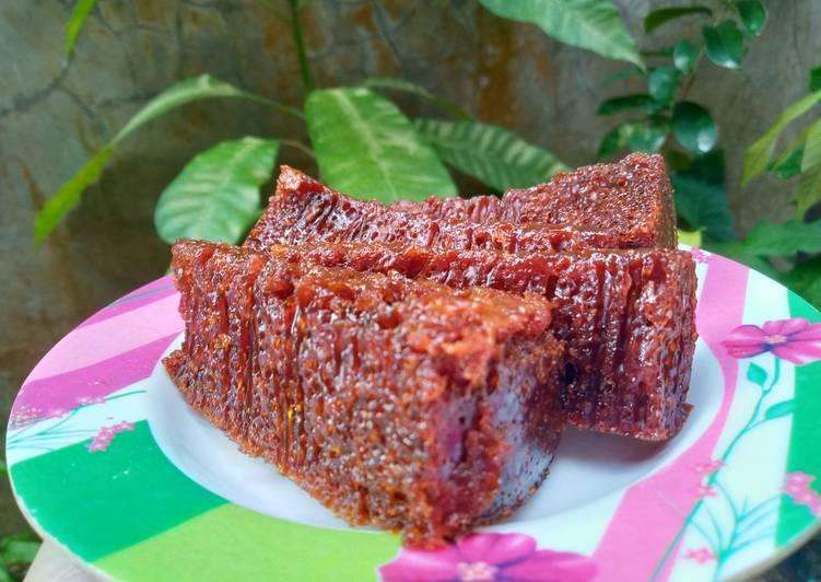 cara membuat Bolu karamel sarang semut - Sajian Dapur Bunda