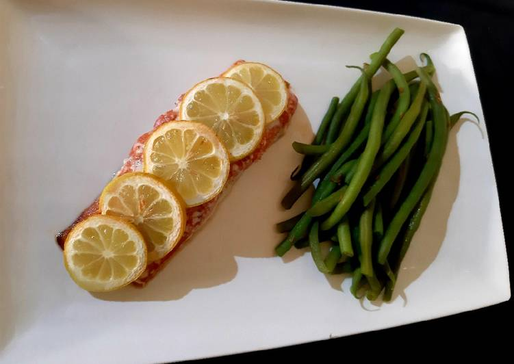 How to Make Favorite Salmon with allotment greens