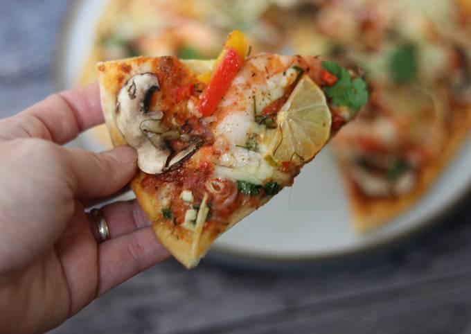 Tom yum Pizza 🍕 🔥
