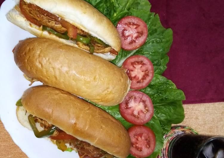 Easiest Way to Cook Delicious Fajita sandwich