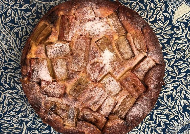 Rhubarb clafoutis (use exact same method for apples and pear too)