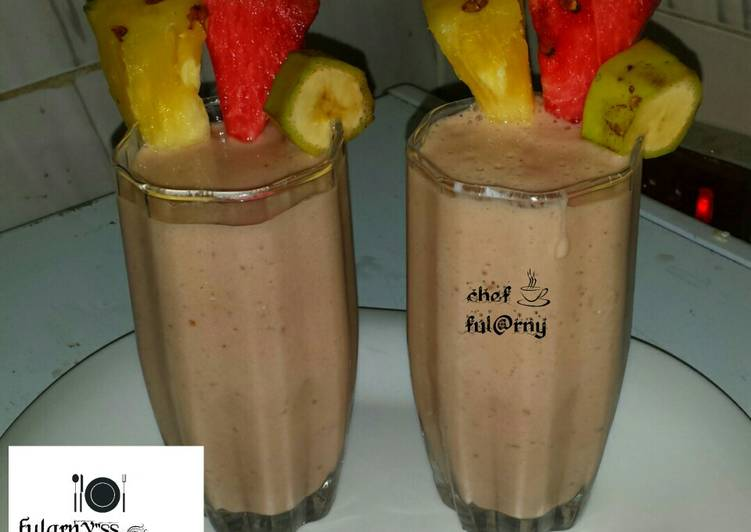 "Pineapple, watermelons and banana smoothies by ful@rny""ss kitche"