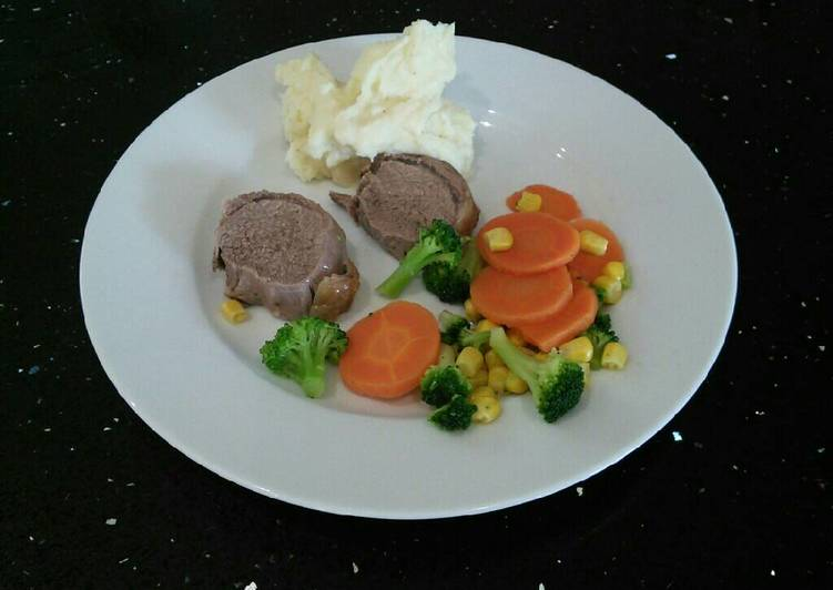 Rolled Lamb Noisette With Mash