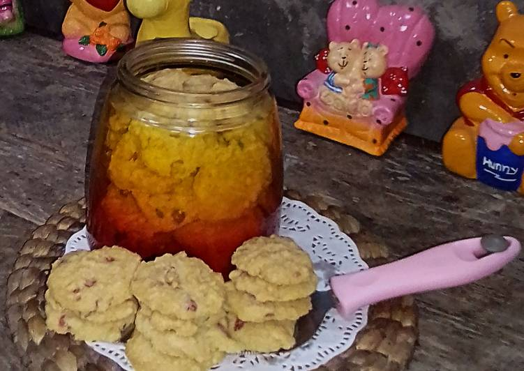 Eggless Rainbow Chips Vanilli Cookies NO MIXER
