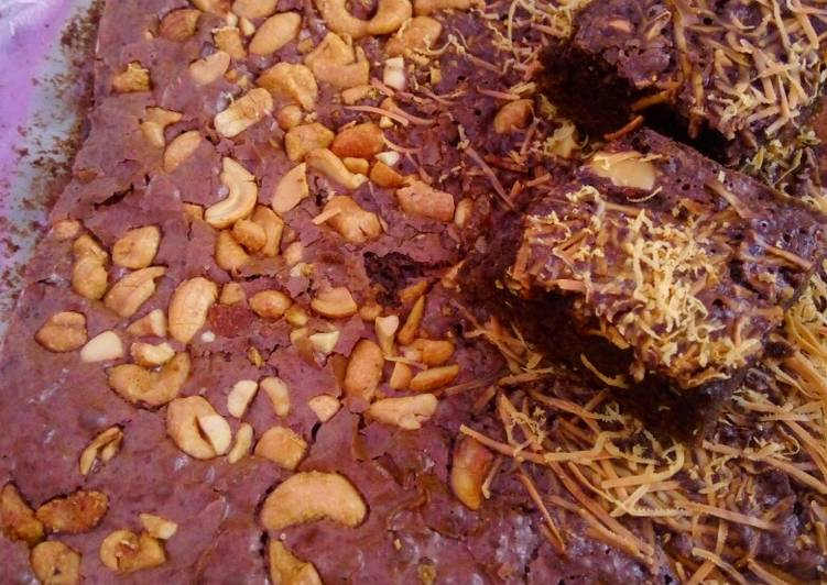 Brownies panggang terawangan (takaran sendok)