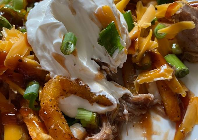 Recipe: Perfect Loaded Pulled pork fries