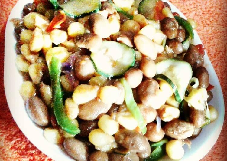 Pan fried soft Corn& beans(githeri)