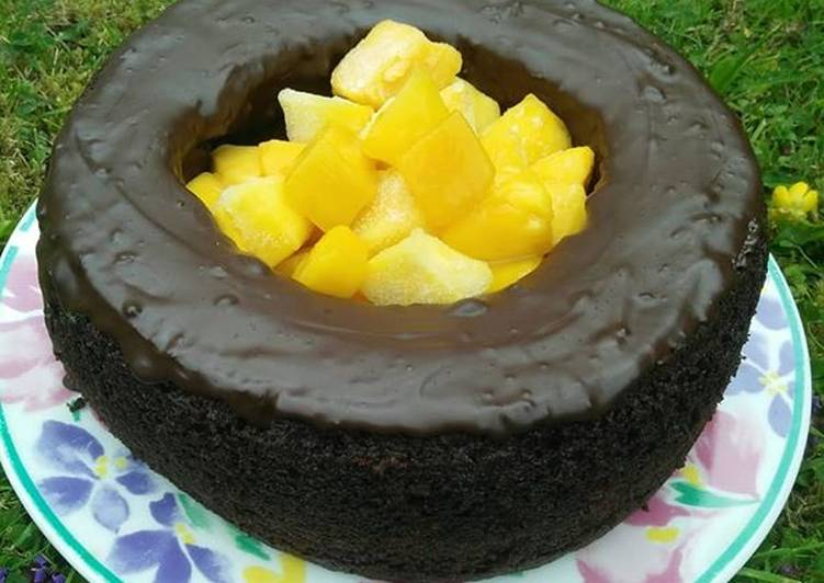 How to Make Favorite Chocho Mango Donut style Cake: