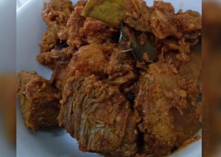 Resep Rendang Daging Sapi (Non Santan), Enak