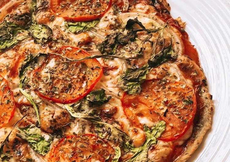 Pizza casera base pollo 🍕😍