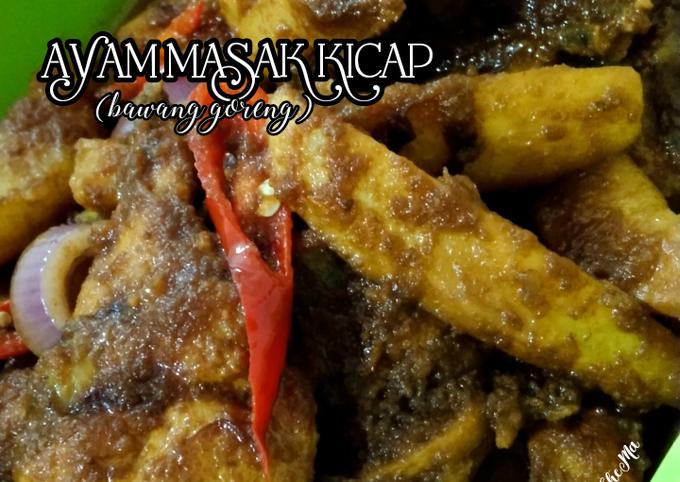 Ayam Masak Kicap (bawang goreng)