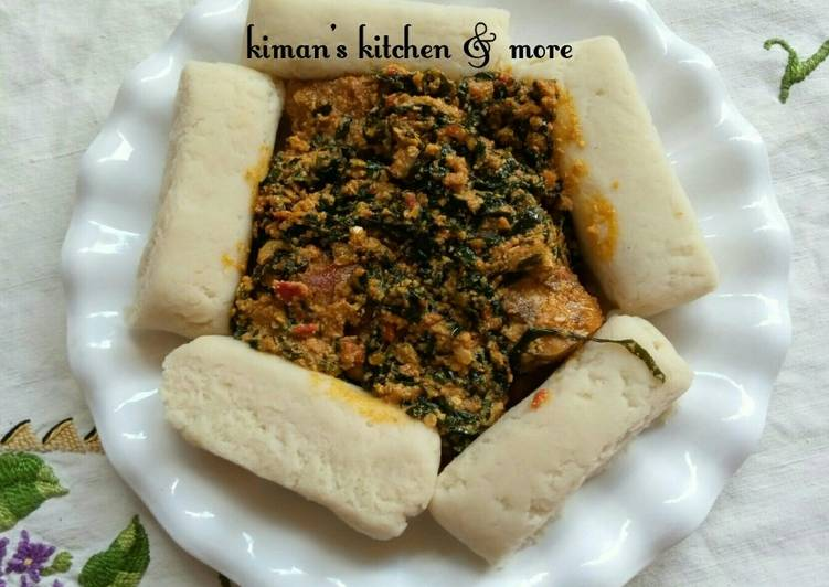 How to Prepare Ultimate Egusi/ugu leaf soup with pounded yam