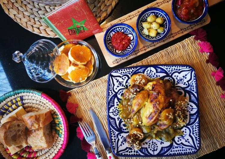 Comment Cuisiner Savoureux Tajine poulet aux dattes et abricots #platsdexception
