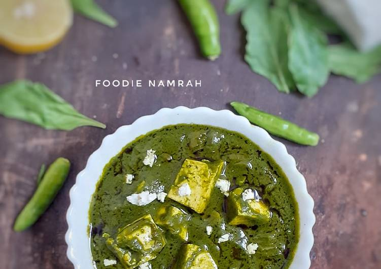 Recipe: Perfect Palak paneer restaurant style