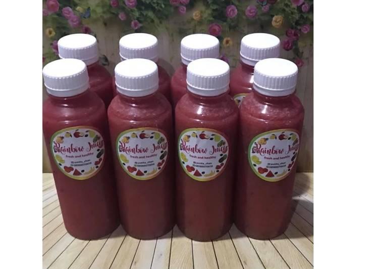 Diet Juice Watermelon Orange Guava Apple Cranberry