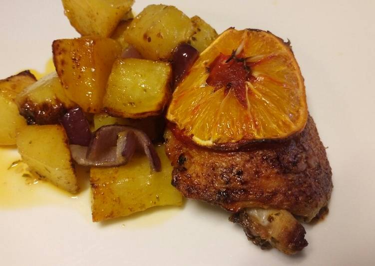 Blood Orange and chorizo chicken