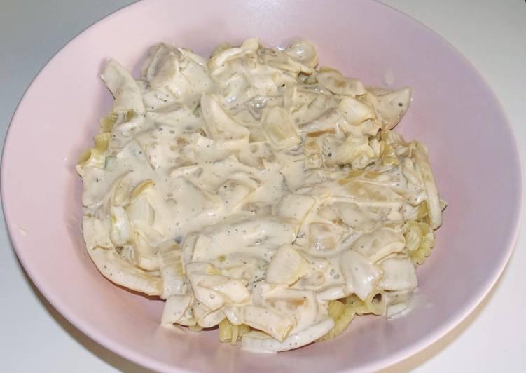 Pâtes complètes sauce soja/oignons (vegan)
