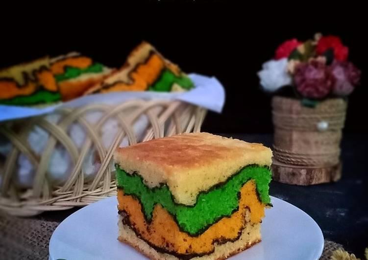 Topo map love cake / Cake alunan kasih