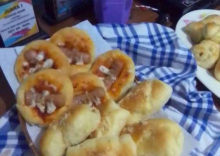 Resep roti empuk isi sosis dan bolognaise