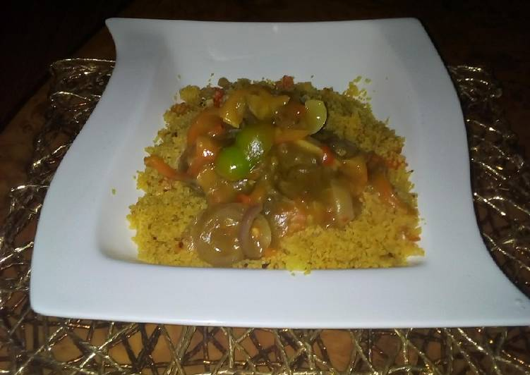 Steps to Prepare Award-winning Couscous with curry beef soup