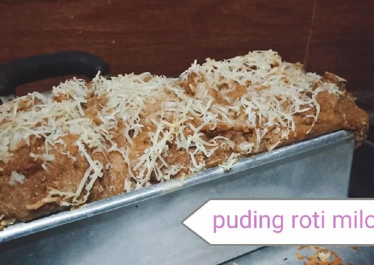 Pudding roti milo