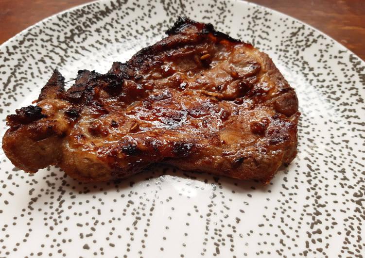 Recette: Parfait Échines de porc marinées au miel et au soja