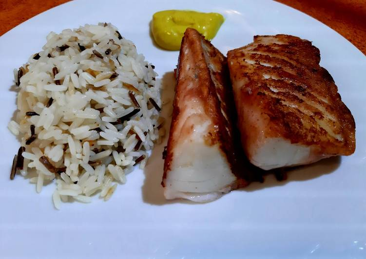 Hake and wild rice