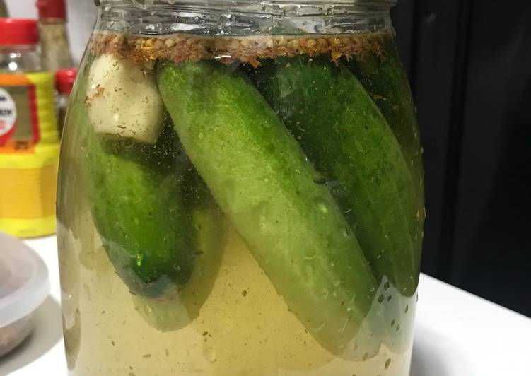 Pickled cucumber #lactofermentation