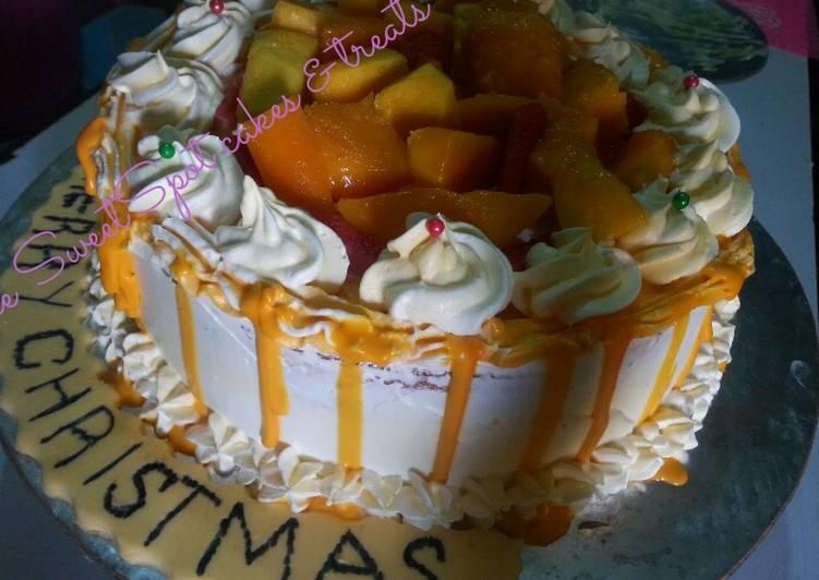 Mango cake# Christmas baking contest # X - mas revival contest#