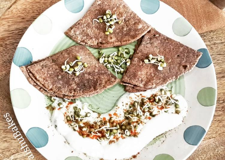 30 Minute How to Prepare Autumn Ragi Malt and Moong sprouts Pancakes